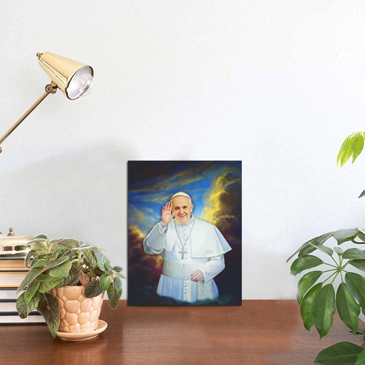 """Pope Francis Photo Panel for Tabletop Display 6""""x8"""""""