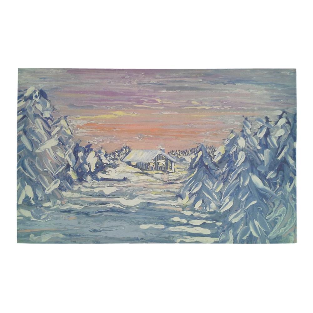 Winter Cabin - Bath Rug 20''x 32''