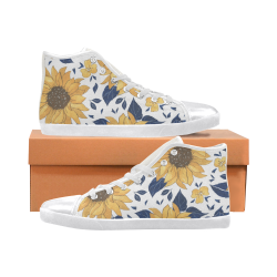 Sunflower Women's High Top Canvas Shoes Women's High Top Canvas Shoes (Model 002)