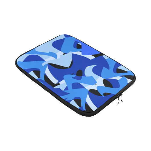 """Camouflage Abstract Blue and Black Custom Sleeve for Laptop 15.6"""""""