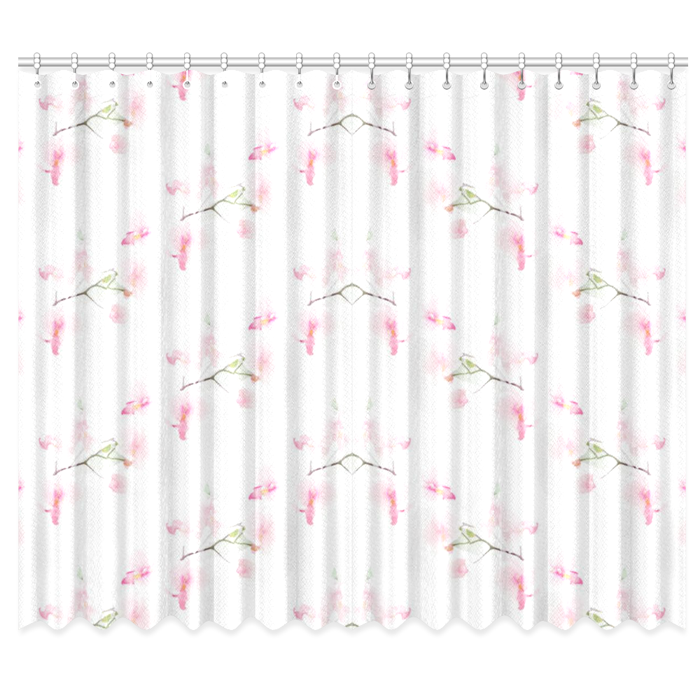 "Pattern Orchidées Window Curtain 50""x84""(Two Piece)"