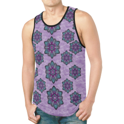 a gift with flowers stars and bubble wrap New All Over Print Tank Top for Men (Model T46)
