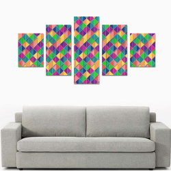 Geometric Abstract Triangle Canvas Print Sets B (No Frame)
