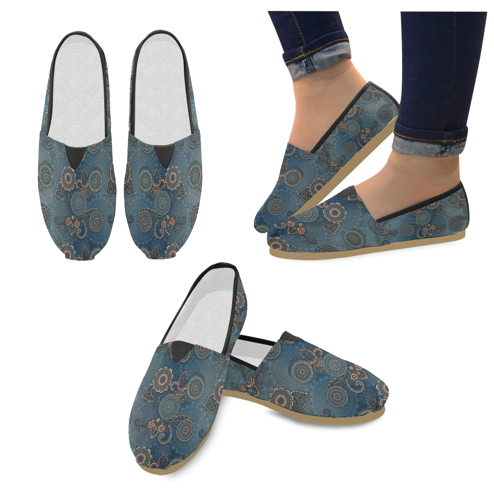 Mandalas Unisex Casual Shoes (Model 004)