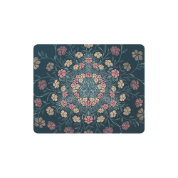 Pretty Powder Pastels Flowers Mandala Rectangle Mousepad