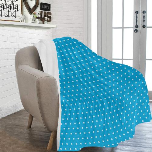 "Polka Dot Pin SkyBlue - Jera Nour Ultra-Soft Micro Fleece Blanket 60""x80"""