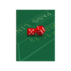 "Las Vegas Dice on Craps Table Poster 18""x24"""