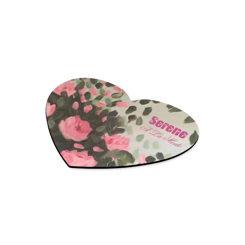 Roses & Bushes Heart-shaped Mousepad
