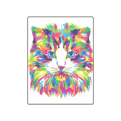 "Rainbow Cat Blanket 50""x60"""