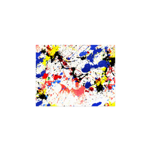 """Blue and Red Paint Splatter Poster 11""""x8.5"""""""