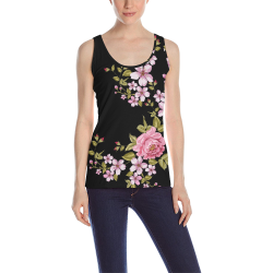 Pure Nature - Summer Of Pink Roses 1 All Over Print Tank Top for Women (Model T43)