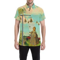 DANDELIONS Men's All Over Print Short Sleeve Shirt (Model T53)
