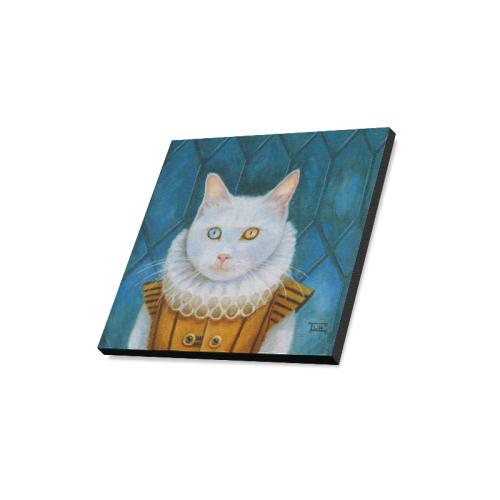 """Renaissance Cat Canvas Print 16""""x16"""""""