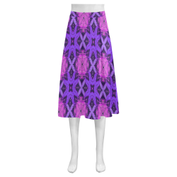 Pink and Purple Abstract - Repper Mnemosyne Women's Crepe Skirt (Model D16)