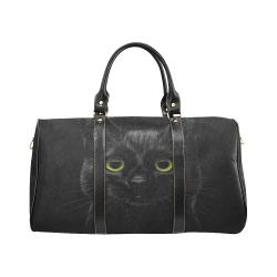 Black Cat New Waterproof Travel Bag/Large (Model 1639)