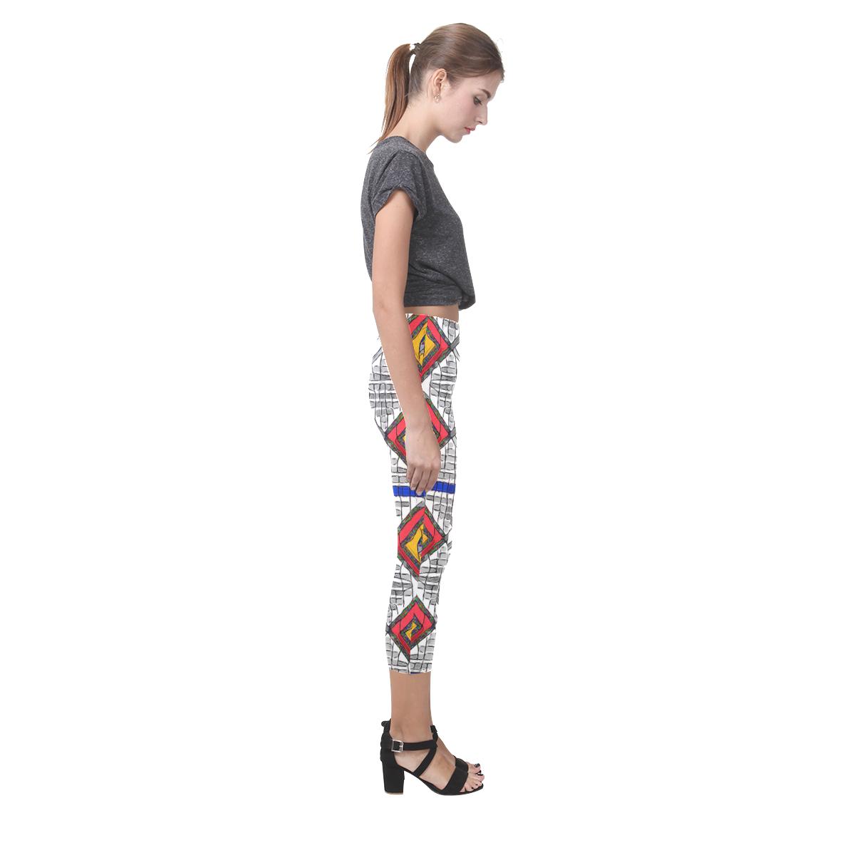 Mixed Center3 Capri Legging (Model L02)