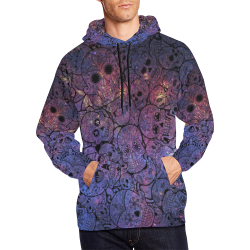 Cosmic Sugar Skulls All Over Print Hoodie for Men/Large Size (USA Size) (Model H13)