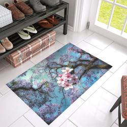 """Cherry blossomL Azalea Doormat 30"""" x 18"""" (Sponge Material)"""