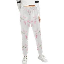 Pattern Orchidées Women's All Over Print Sweatpants (Model L11)