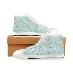 Cute Cat Shoes, Cat Lover-01 Women's Classic High Top Canvas Shoes (Model 017)