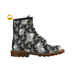 Elegant Flowers High Grade PU Leather Martin Boots For Men Model 402H