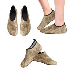 Vintage Desert Brown Camouflage Women's Slip-On Water Shoes (Model 056)
