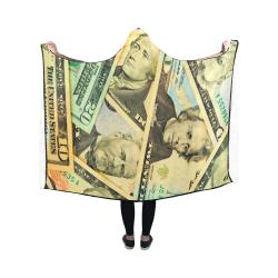 US DOLLARS Hooded Blanket 50''x40''