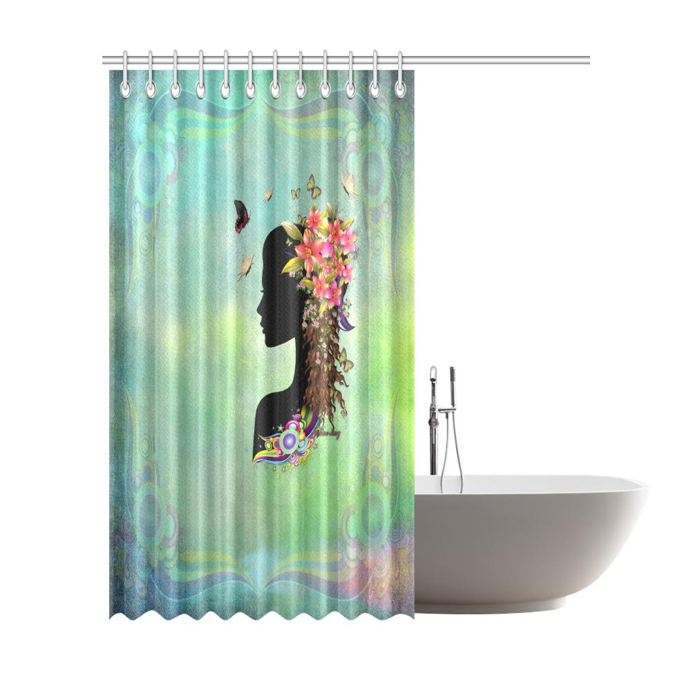 "ladies fantasy Fashion 200 Shower Curtain 72""x84"""