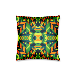 "Modern Geometric Pattern Custom Pillow Case 16""x16""  (One Side Printing) No Zipper"