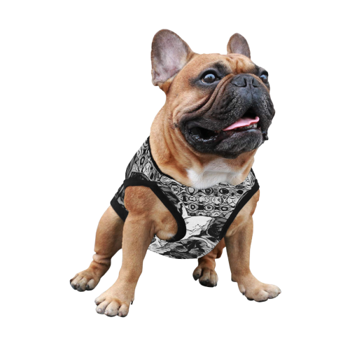 FRENCH BULLDOG ART BLACK AND WHITE All Over Print Pet Tank Top