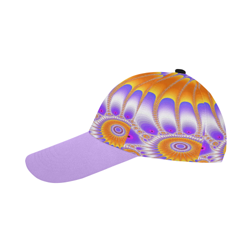 Purple and Orange Sunflower All Over Print Baseball Cap B