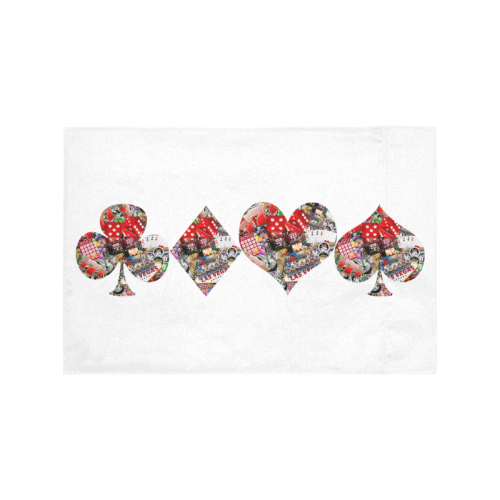 Las Vegas Playing Card Shapes / White Motorcycle Flag (Twin Sides)