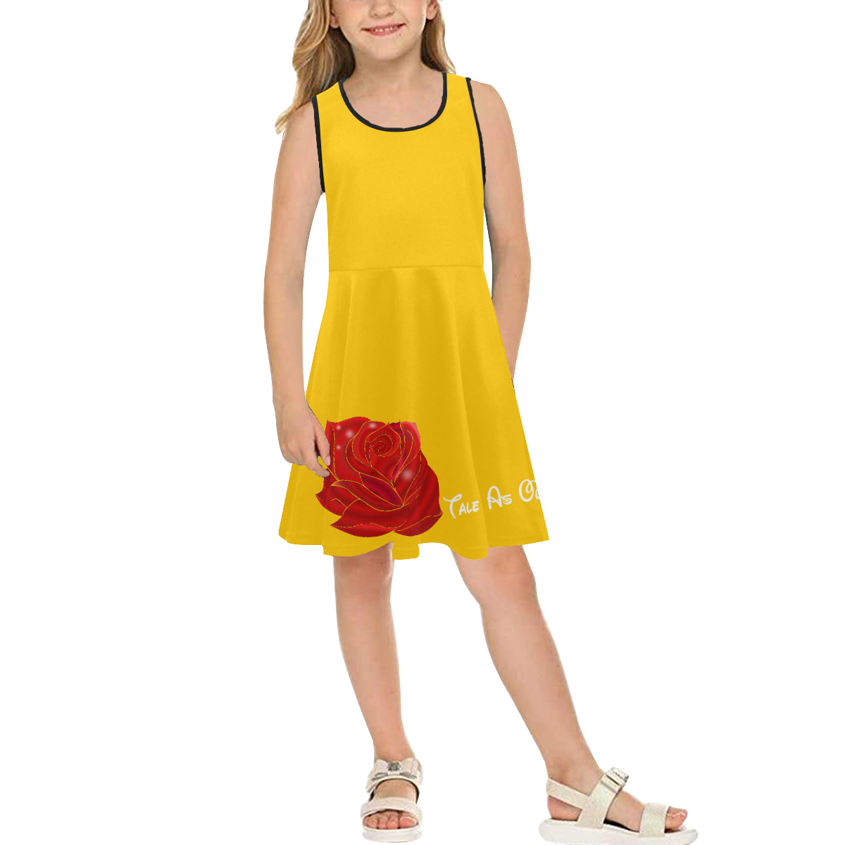La Belle Girls' Sleeveless Sundress (Model D56)