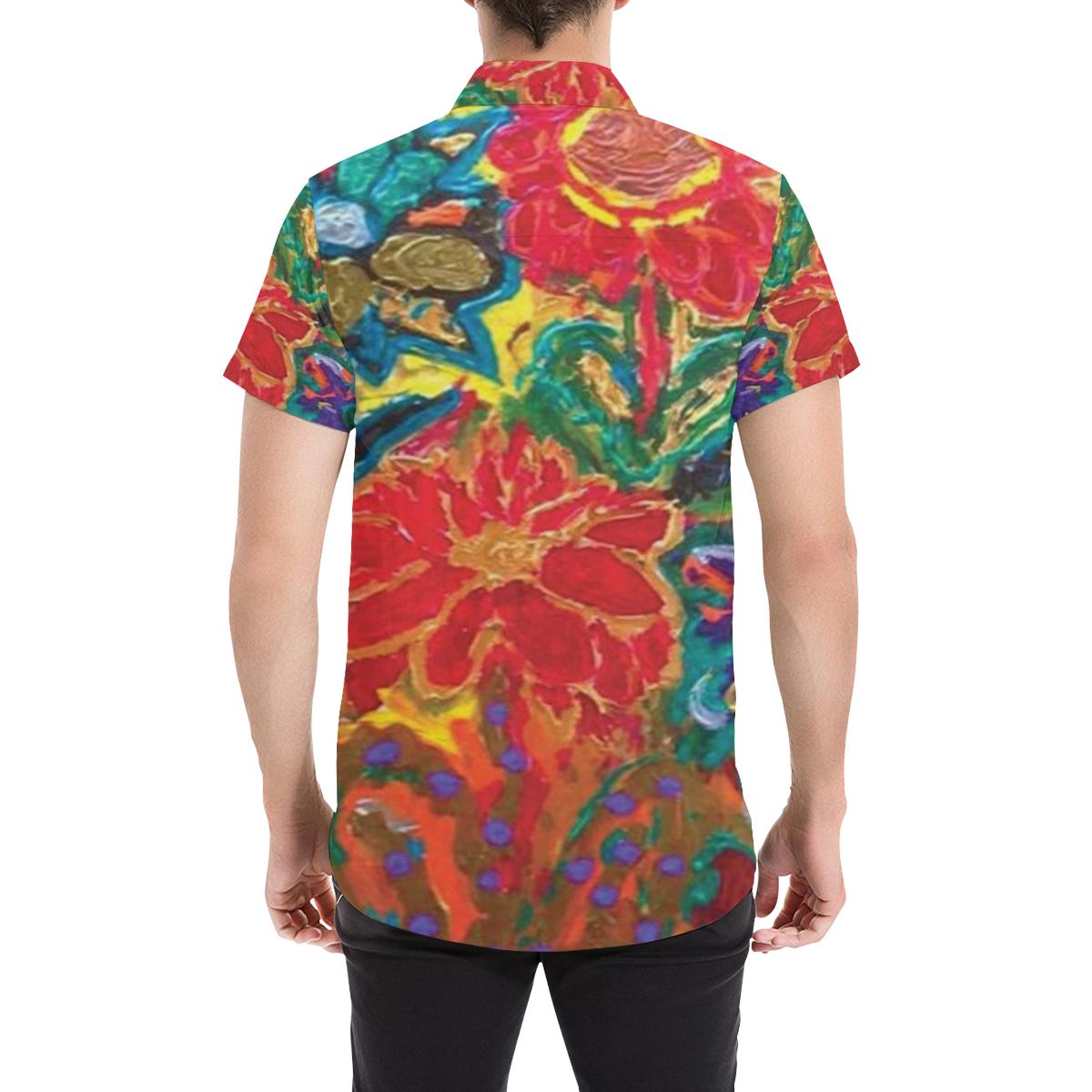 HAPPY SHIRT Men's All Over Print Short Sleeve Shirt (Model T53)