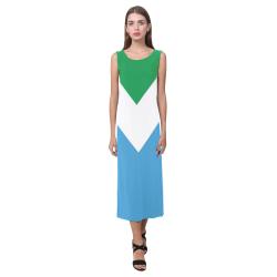 Vegan Flag Phaedra Sleeveless Open Fork Long Dress (Model D08)