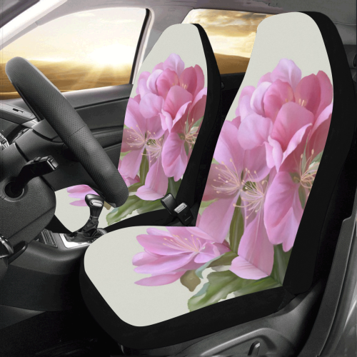 Pink Blossom Branch, floral watercolor Car Seat Covers (Set of 2)