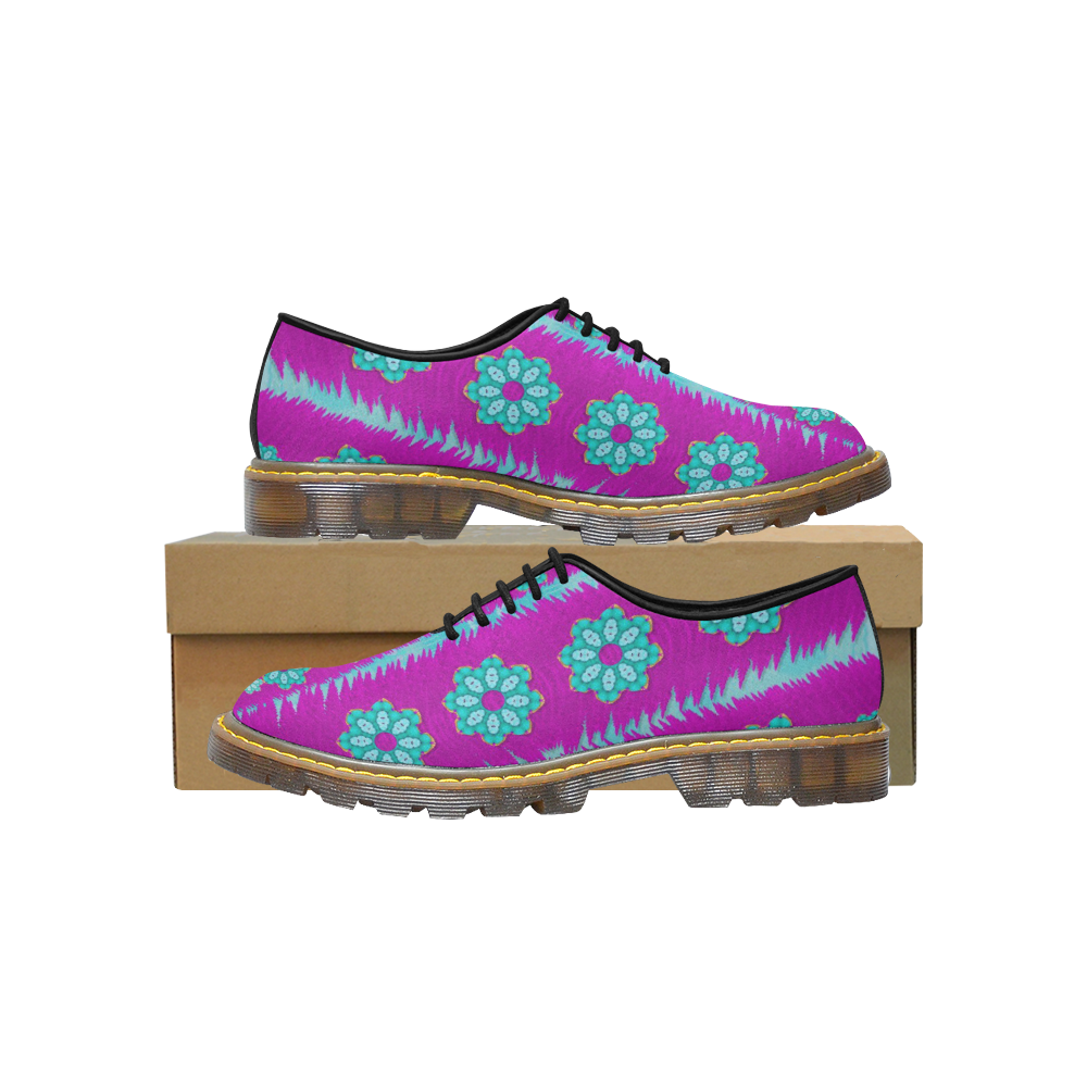 Fern decorative in some mandala fantasy flower Men's Wholecut Dress Shoes (Model 4026)