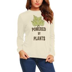 Powered by Plants (vegan) All Over Print Crewneck Sweatshirt for Women (Model H18)