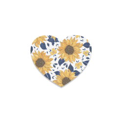 Sunflowers Heart Shaped Coasters Heart Coaster