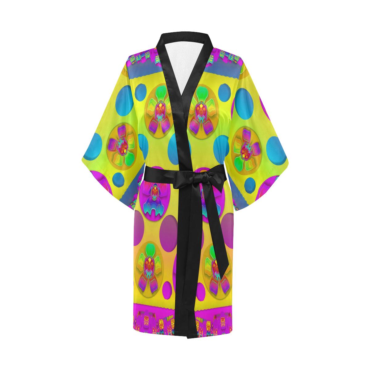Power flowers in festive flower power festival Kimono Robe