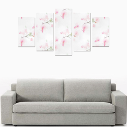 Pattern Orchidées Canvas Print Sets A (No Frame)