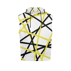 Black and yellow stripes All Over Print Sleeveless Hoodie for Men (Model H15)