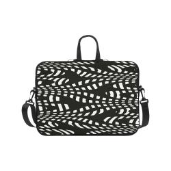 "Laptop Bag Black and White Design Laptop Handbags 17"""
