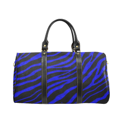 Ripped SpaceTime Stripes - Blue New Waterproof Travel Bag/Large (Model 1639)