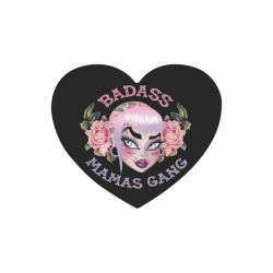 Badass Mama Heart-shaped Mousepad