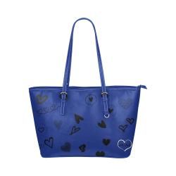 FF 'Walking Memorial' Blue Leather Tote Bag/Large (Model 1651)