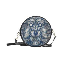 3D Dark Werewolf Round Sling Bag (Model 1647)