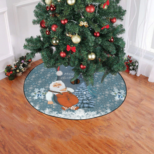 "Funny Santa Claus Christmas Tree Skirt 47"" x 47"""