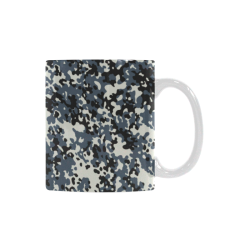 Urban City Black/Gray Digital Camouflage White Mug(11OZ)