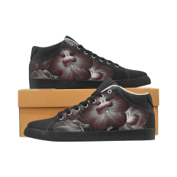 Stella floral darkness Women's Chukka Canvas Shoes (Model 003)